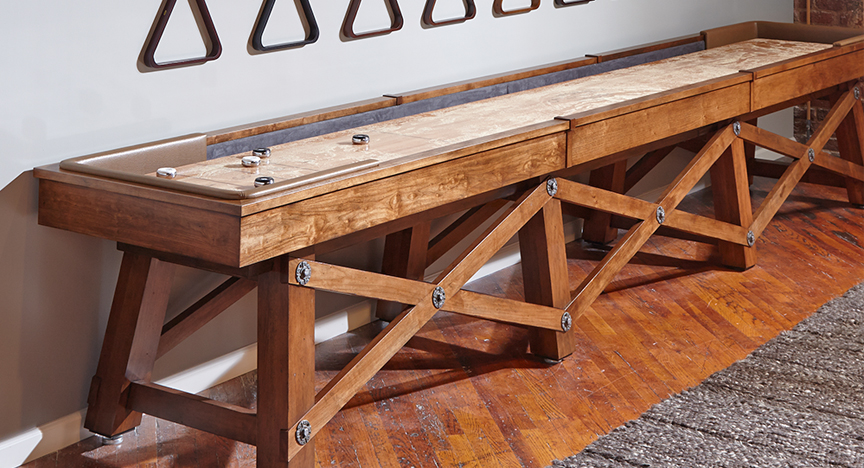 Loft Wood Shuffleboard Table