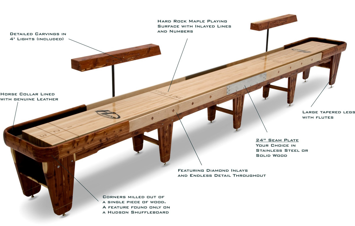 A Shuffleboard Table Buying Guide Written By The Pros - Standard shuffleboard table