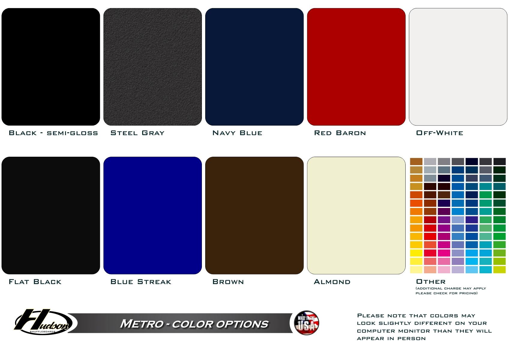 Metro Shuffleboard Color Options