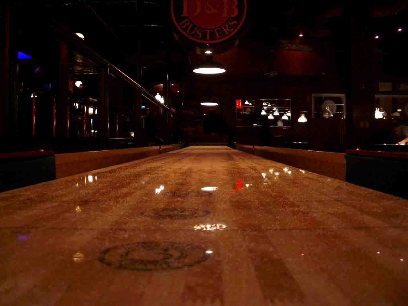 Pristine View from the End of a Shuffleboard
