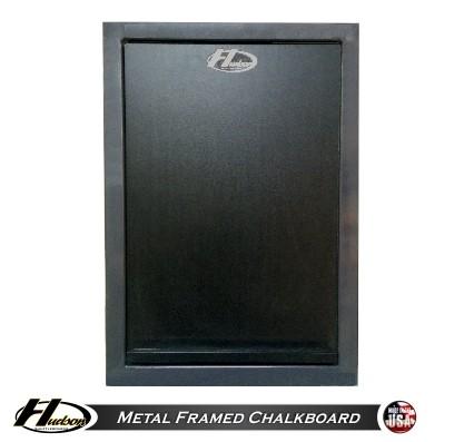 Shuffleboard chalkboard with metal frame