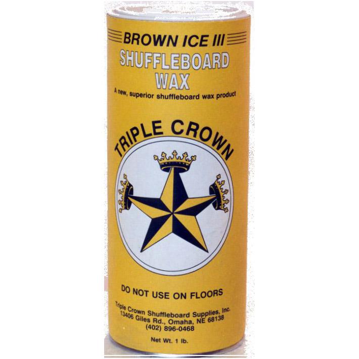 Triple Crown Brown Ice II Shuffleboard Wax