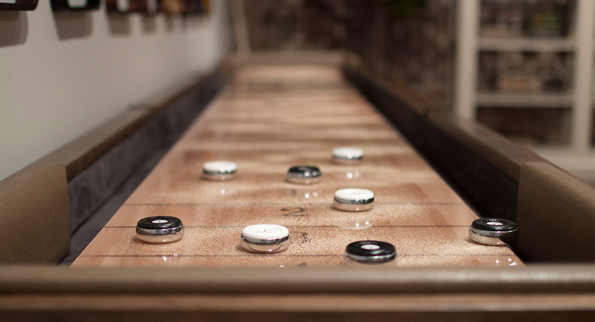 Inlaid Shuffleboard Table