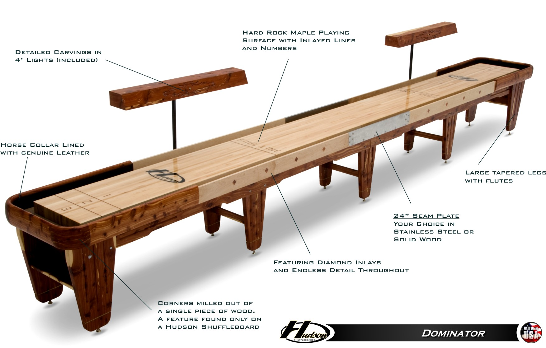 The Dominator Professional Shuffleboard Table