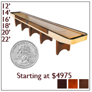 Coin Operated Shuffleboards