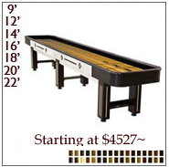 Distinction Shuffleboard Tables