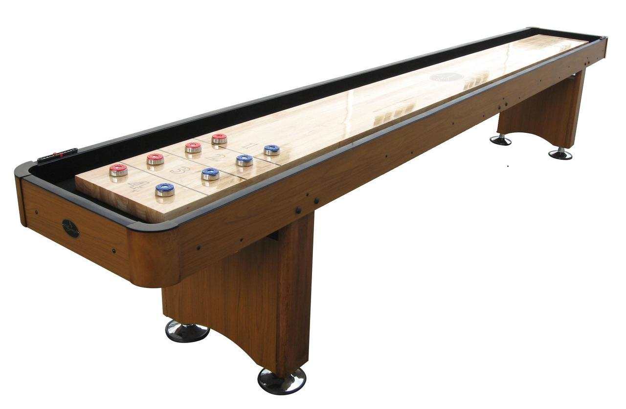 12 honey oak playcraft woodbridge shuffleboard table