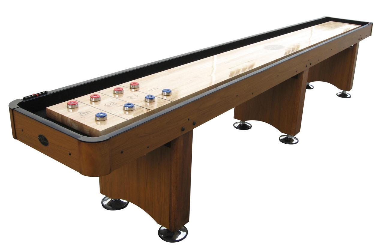 14 Honey Oak Playcraft Woodbridge Shuffleboard Table Shuffleboardnet