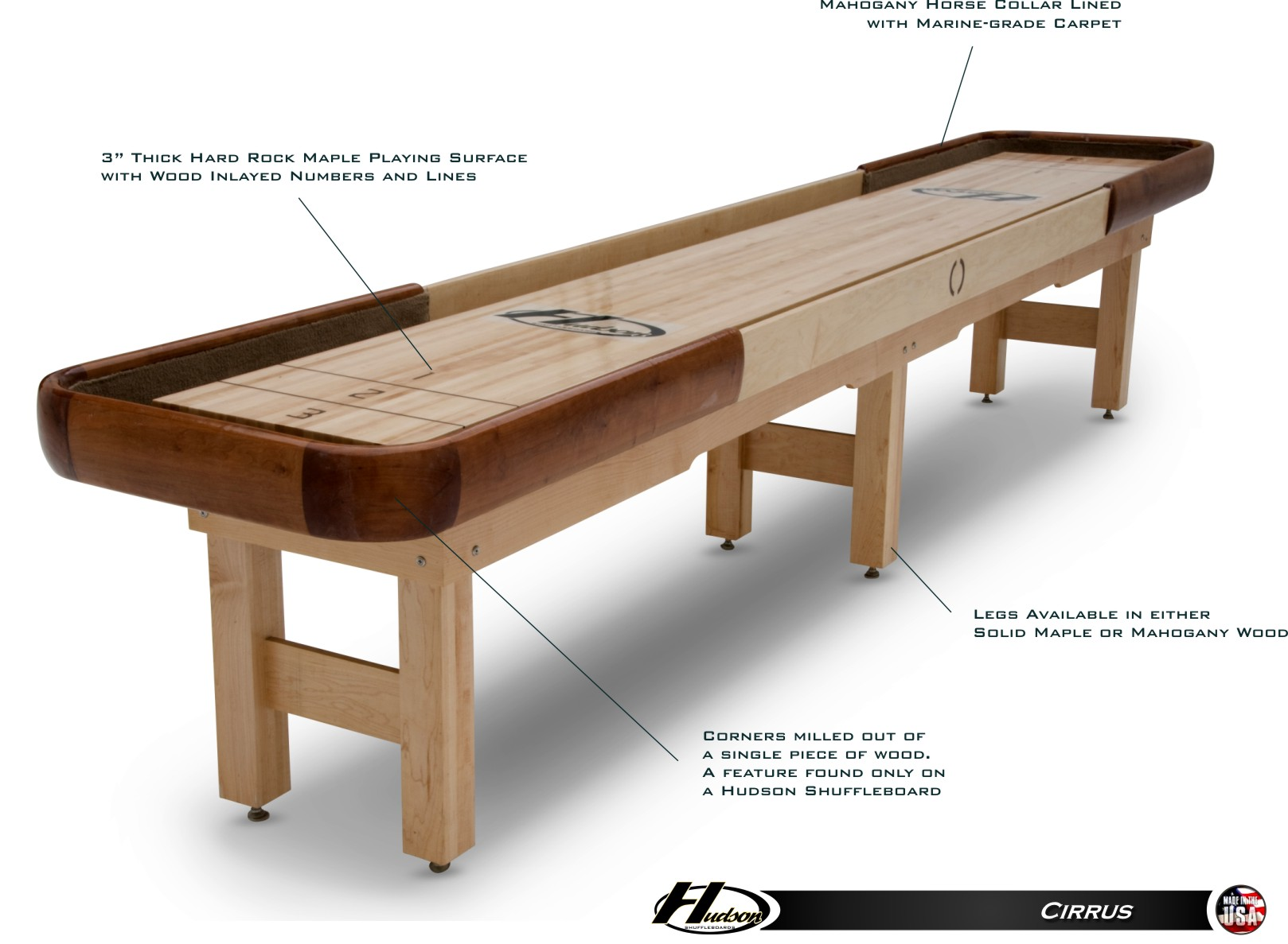 18 Cirrus Outdoor Shuffleboard Table View Detailed Images 14