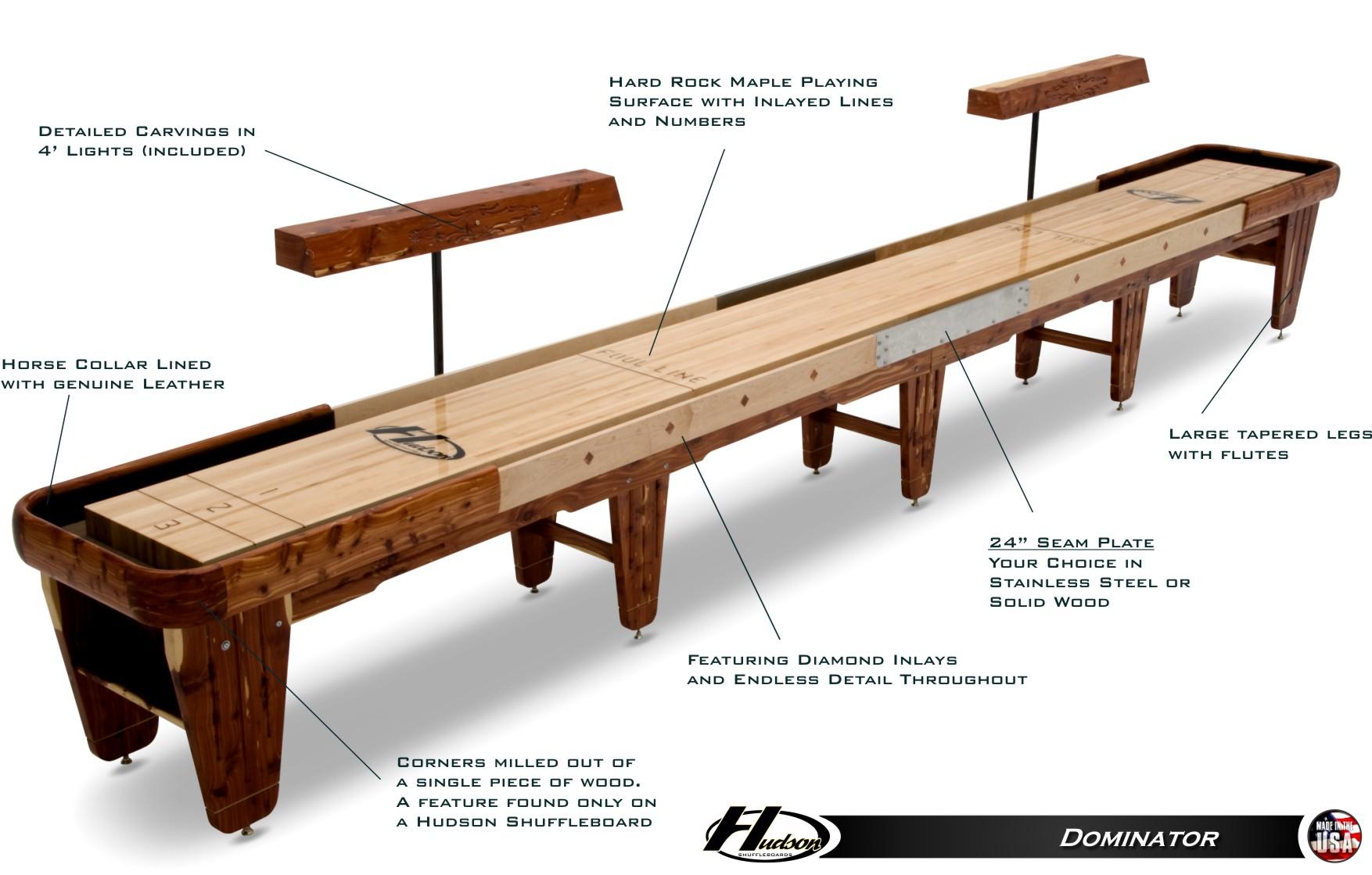22 dominator shuffleboard table rh shuffleboard net shuffleboard tables atlanta shuffleboard tables for sale