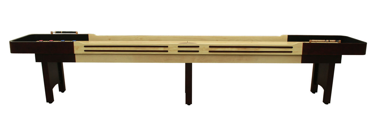 14 39 espresso playcraft coventry shuffleboard table for 12 foot shuffleboard table dimensions