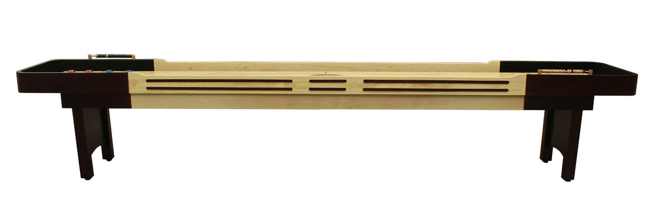 12 39 espresso playcraft coventry shuffleboard table for 12 foot shuffleboard table dimensions