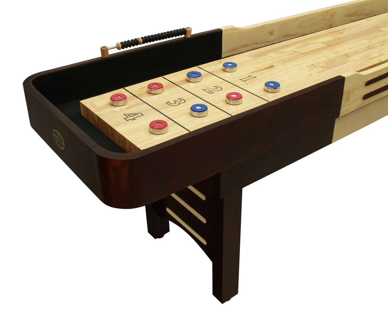 12 39 espresso playcraft coventry shuffleboard table for 12 shuffleboard table