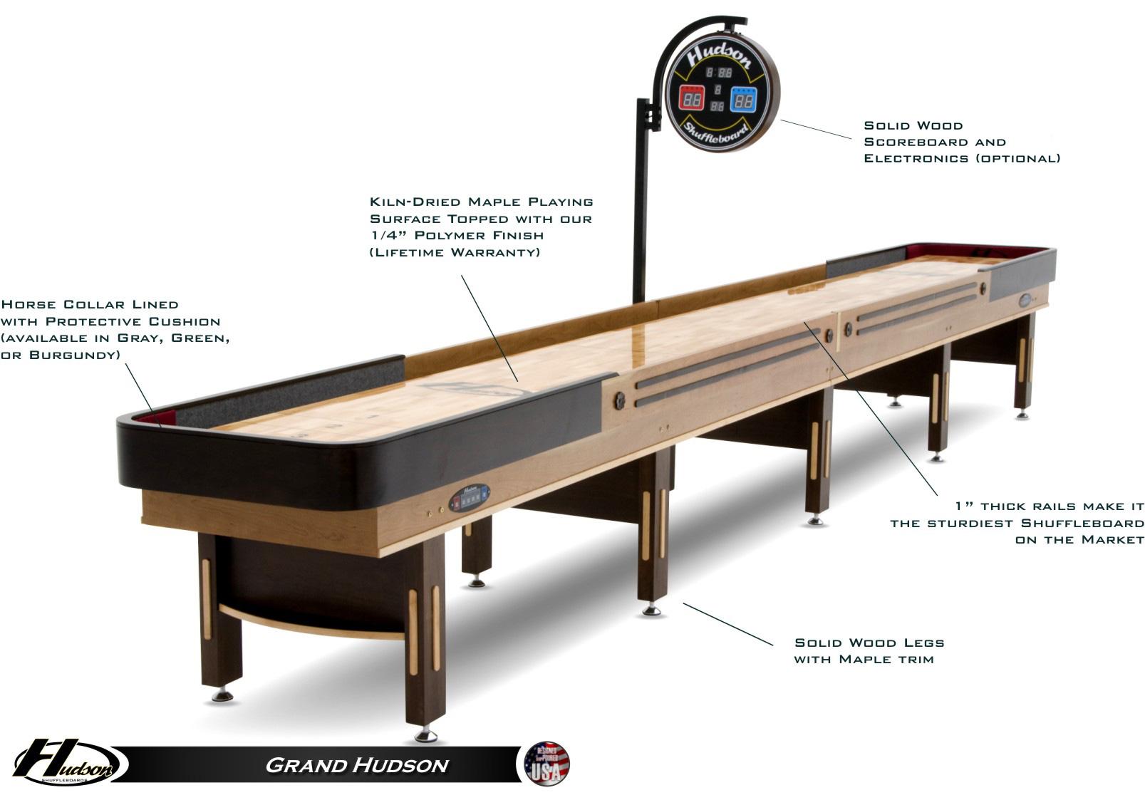 16 Grand Hudson Shuffleboard Table Shuffleboardnet