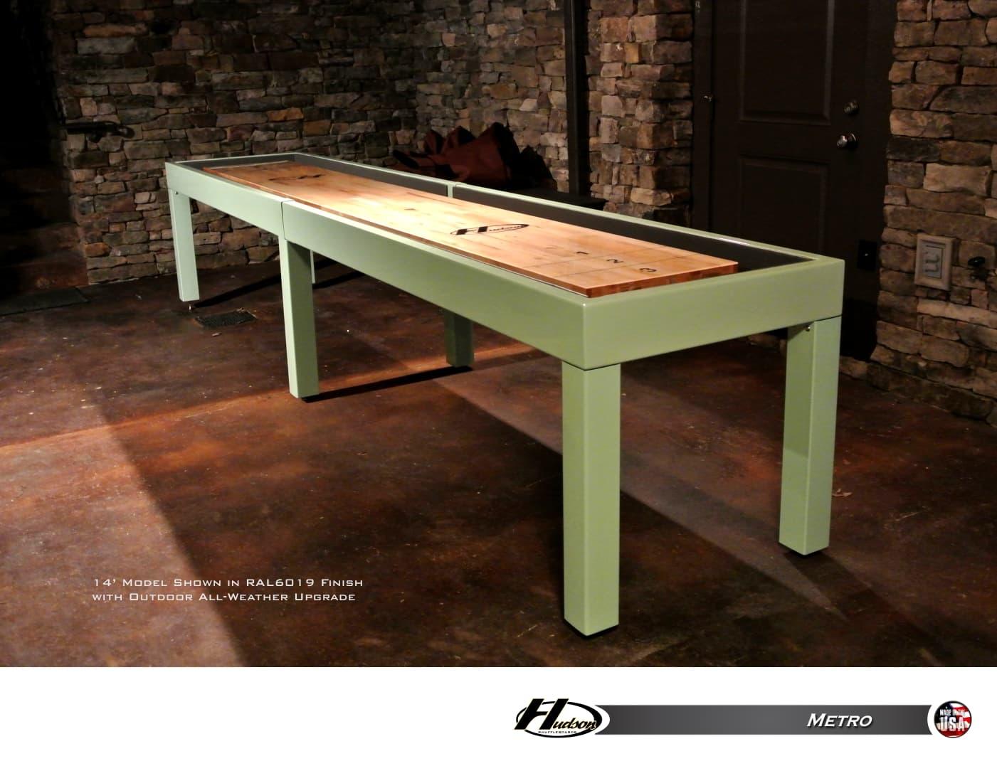 16 Metro Shuffleboard Table Shuffleboardnet