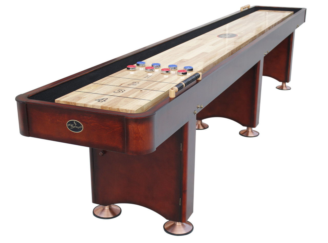 16' georgetown cherry shuffleboard table - shuffleboard 16 Foot Dining Table