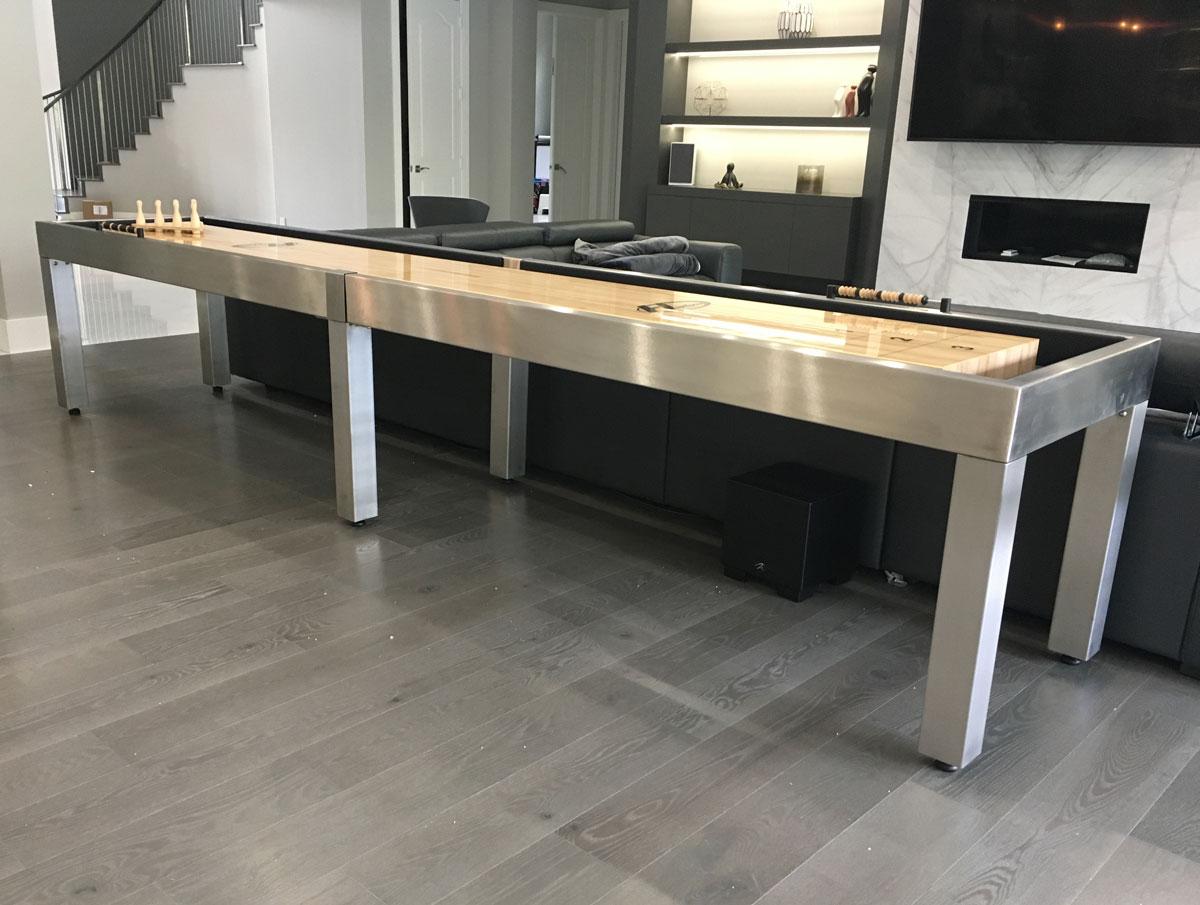 Customer Photo (14' Stainless Steel Shuffleboard)