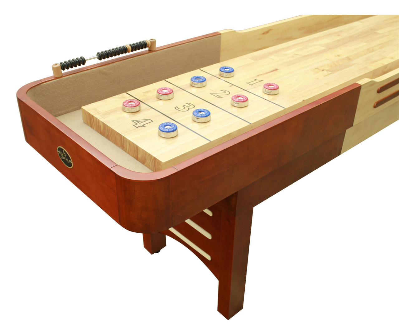 9 39 cherry playcraft coventry shuffleboard table for 12 foot shuffleboard table dimensions