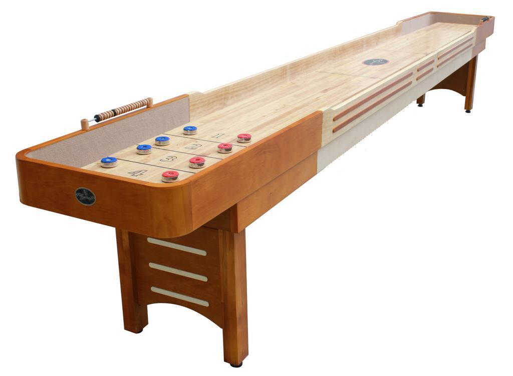 12 39 honey maple playcraft coventry shuffleboard table for 12 foot shuffleboard table dimensions