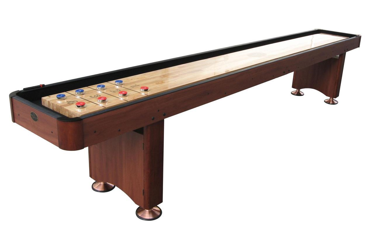 9u0027 Cherry Playcraft Woodbridge Shuffleboard Table