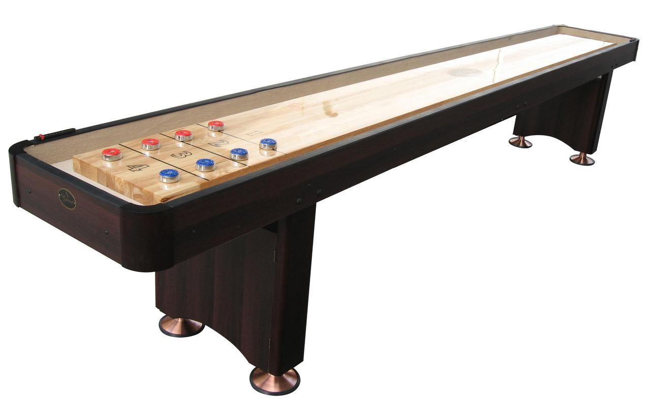 9' Espresso Playcraft Woodbridge Shuffleboard Table