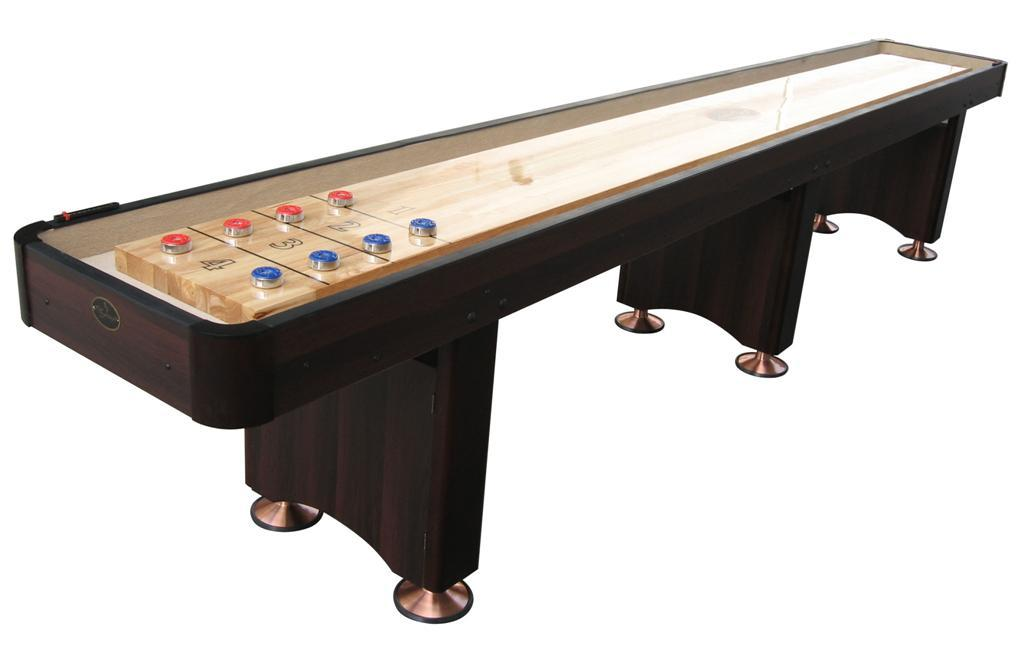 16' Espresso Playcraft Woodbridge Shuffleboard Table