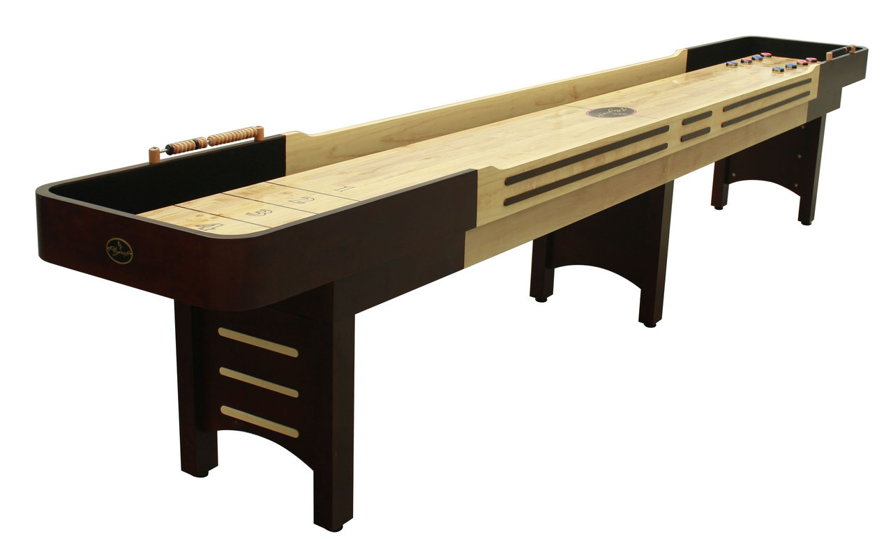 14'  Espresso Playcraft Coventry Shuffleboard Table