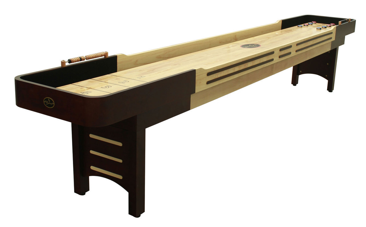 12'  Espresso Playcraft Coventry Shuffleboard Table