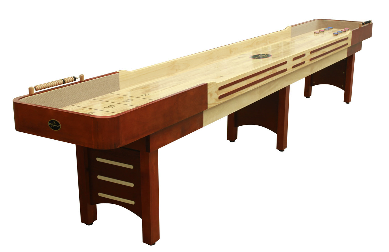 14'  Cherry Playcraft Coventry Shuffleboard Table