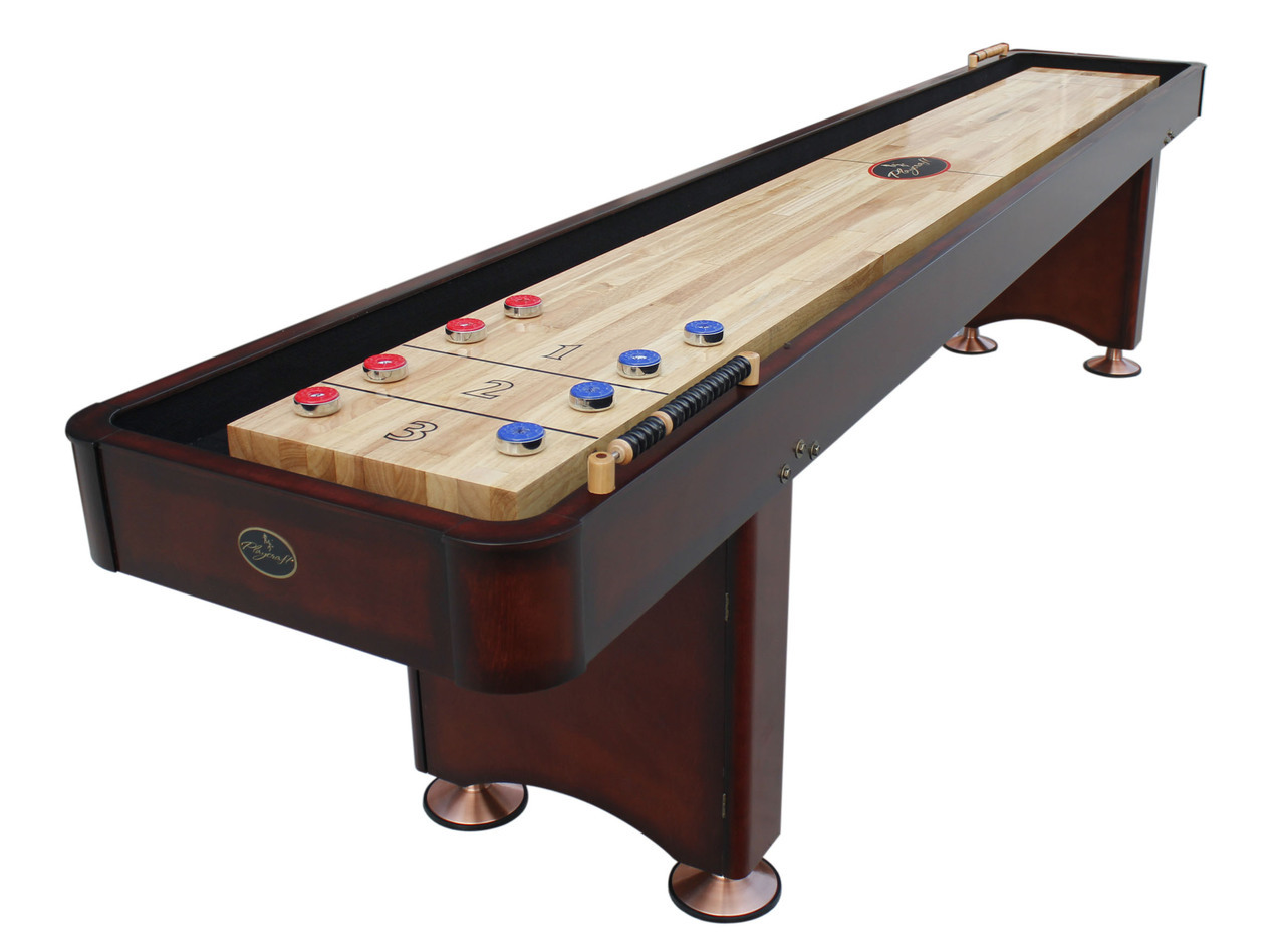12 39 georgetown cherry shuffleboard table for 12 foot shuffle board table