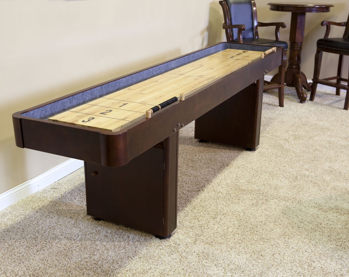12 39 level best shuffleboard warm chestnut for 12 foot shuffleboard table dimensions