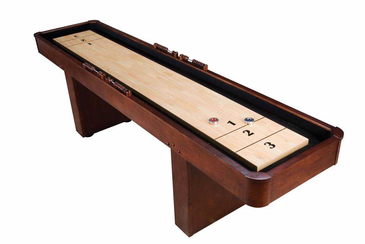 9u0026#39; Level Best Shuffleboard - Traditional Mahogany - Shuffleboard.net