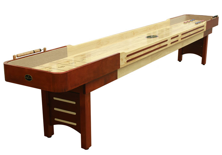 12'  Cherry Playcraft Coventry Shuffleboard Table