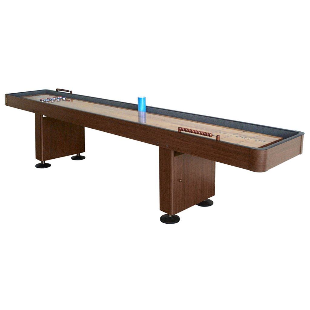 9' Challenger Walnut Shuffleboard Table