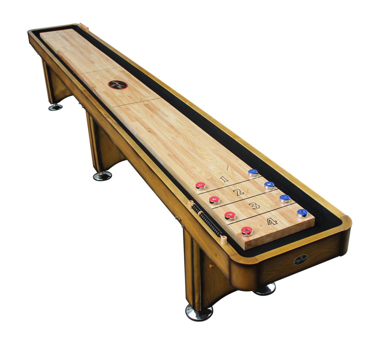 14' Georgetown Honey Oak Shuffleboard Table