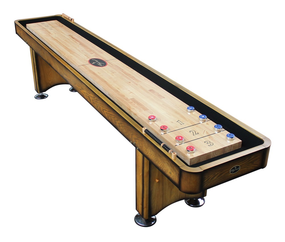 12' Georgetown Honey Oak Shuffleboard Table