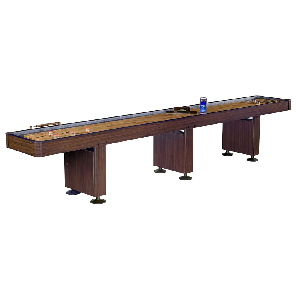 14' Challenger Walnut Shuffleboard Table