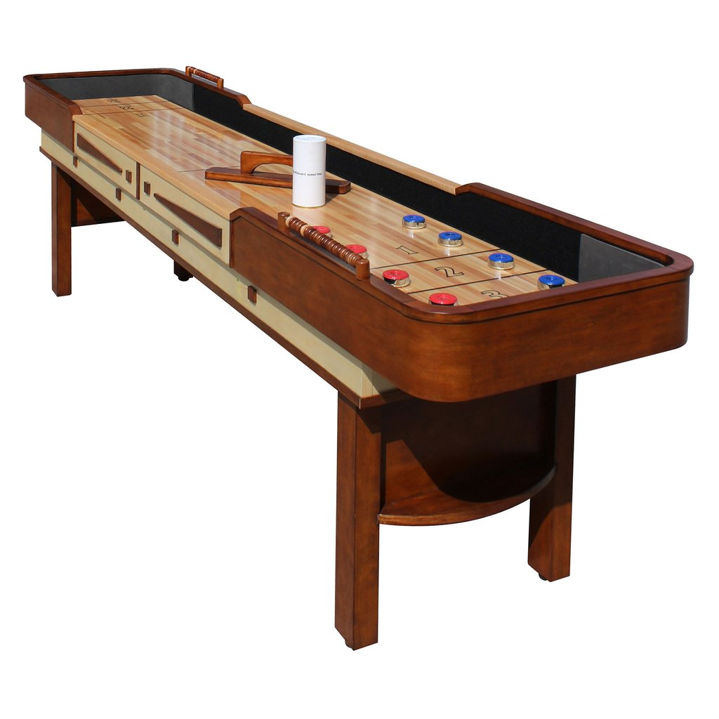 9' Merlot Shuffleboard Table