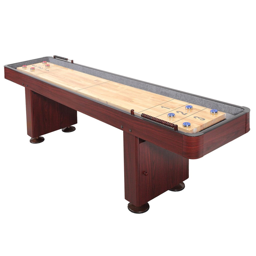 12' Challenger Dark Cherry Shuffleboard Table