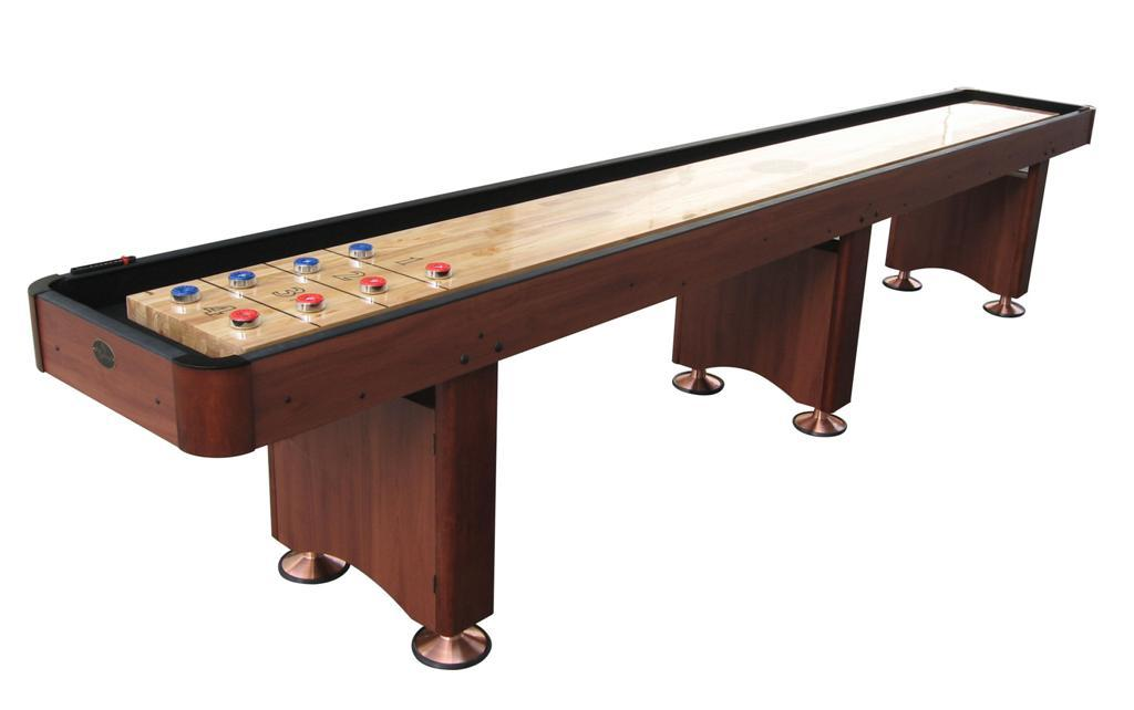 16' Cherry Playcraft Woodbridge Shuffleboard Table