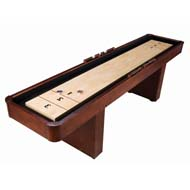9' Level Best Shuffleboard - Traditional Mahogany