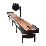 22' Telluride Espresso Shuffleboard Table with Overhead Electronic Scoring