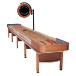 22' Telluride Honey Shuffleboard Table with Overhead Electronic Scoring