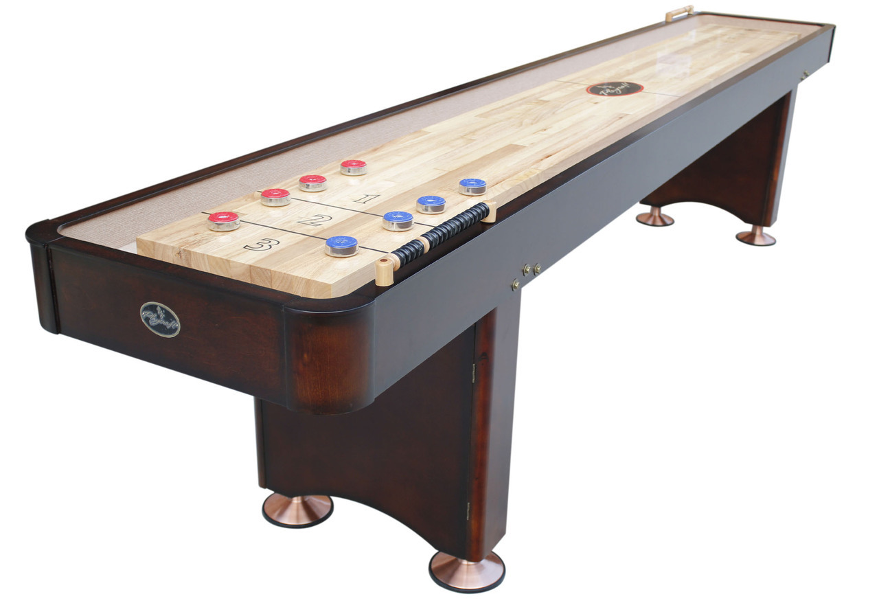 16' Georgetown Espresso Shuffleboard Table