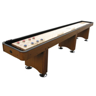 9' Honey Oak Playcraft Woodbridge Shuffleboard Table