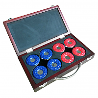 Shuffleboard Pucks w/ Case - Set of 8