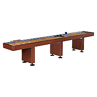 14' Challenger Dark Cherry Shuffleboard Table