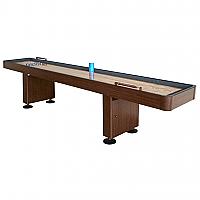 12' Challenger Walnut Shuffleboard Table